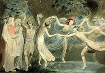 208px-Oberon,_Titania_and_Puck_with_Fairies_Dancing._William_Blake._c.1786