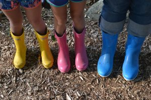 Rain boots not only for rainy days but for dewy morning grass!
